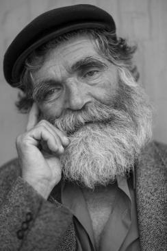 Face of Hopeful Homeless Man